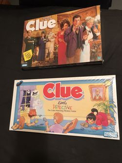 1992 Clue Little Detective & 1998 Clue Board Game Combo Both Sealed New in Box for Sale in San Angelo,  TX