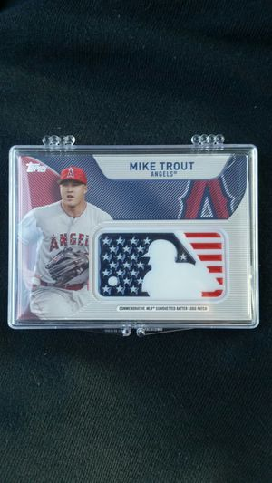 Topps Mike Trout Commemorative MLB Silhouetted Batter Logo Patch for Sale in Newport Beach, CA