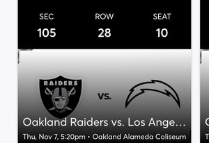 Raider tickets for Sale in Stockton, CA