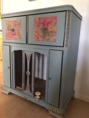 cabinet upcycled:radio/record for Sale in Tracy, CA