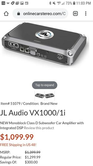 JL Audio 1000w/1 vxi with built in DSP for Sale in Gresham, OR