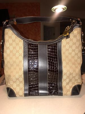 Gucci Secret GG Canvas & Crocodile Hobo Bag for Sale in Bowie, MD