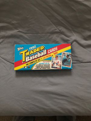 Topps 1992 Traded Baseball Cards The Complete Set for Sale in Glen Burnie, MD