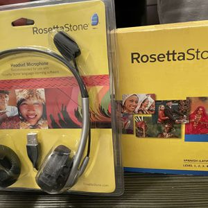 New Rosetta Stone Spanish Full Edition For Windows & Mac With Headphones for Sale in Fort Lauderdale, FL