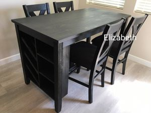 Dark grey counter height dining table set for Sale in Norwalk, CA