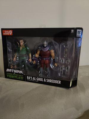 DC Collectibles Batman vs TMNT / Ra's Al Ghul & Shredder for Sale in Stafford, VA