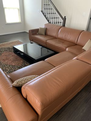 Full Leather Couch for Sale in Stone Ridge, VA