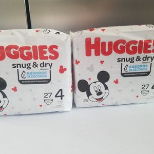 Huggies Size 4 $12 For Both Bags for Sale in Ontario, CA
