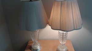 Crystal lamps w/shades SALE 9/14 & 9/15 ONLY for Sale in Stockton, CA