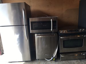 Like new GE fridge stove dishwasher,Samsung microwave excellent working condition cheap price for Sale in Winter Park, FL