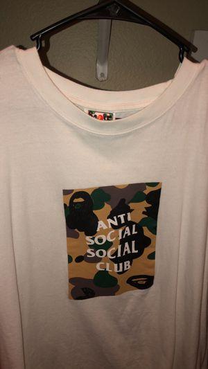 Bape anti social social club shirt camo for Sale in Everett, WA