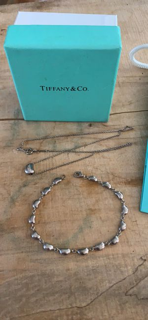 Tiffany necklace and bracelet sterling silver for Sale in Manassas, VA