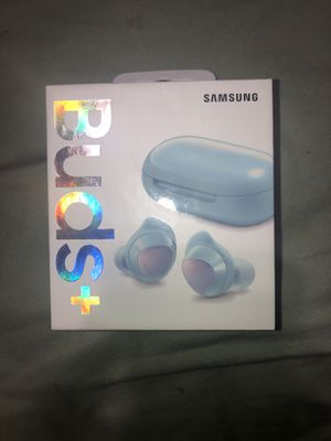 Samsung - Galaxy Buds+ True Wireless Earbud Headphones - Light Blue BRAND NEW for Sale in Tampa, FL