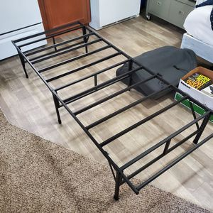 Narrow Twin (Not a Twin Bed Frame) Foldable Black Bed Frame for Sale in Oak Park, MI