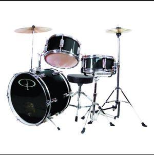 GP Deluxe 3-Piece Junior Drum Set (BLACK) for Sale in Monterey Park, CA