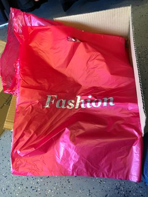 Box of 1000 plastic shopping retail bags for Sale in Indianapolis, IN