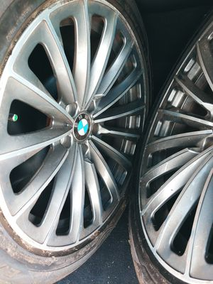 Bmw rims, original factory come off 740i 2012 staggered size 19 contact {contact info removed} for Sale in Zephyrhills, FL