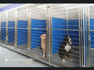 3 stainless steel elevated dog kennel/runs for Sale in Granite City, IL