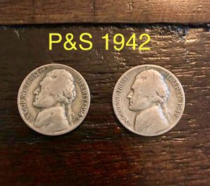 Jefferson nickels 1942 p&S for Sale in Ashland, OR