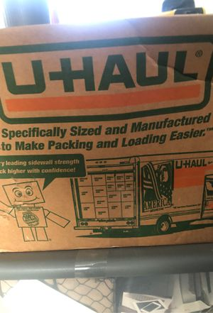 Free u haul moving boxes for Sale in Palatine, IL
