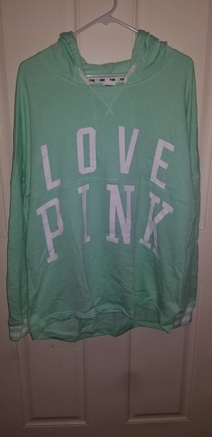 VICTORIA Secrets Pink Woman's Size Large Runs Big Excellent Condition Spring Hoodie for Sale in Taylor, MI