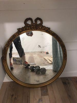 Antique round mirror for Sale in Fairfax, VA