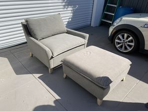 Large West Elm chair and ottoman for Sale in Los Angeles, CA