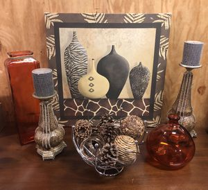 Autumn Breeze Home Decor Wall Art, Candle Holders, Vases & Centerpiece Set 😍 for Sale in Baltimore, MD