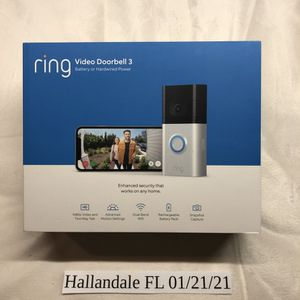New Ring Video Doorbell 3, enhanced wifi, improved motion detection for Sale in Aventura, FL