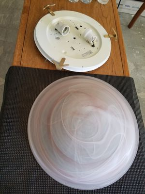 """2-16"""" pink swirl ceiling fixtures $20. Ea for Sale in West Palm Beach, FL"""
