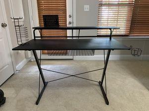Gaming Desk with Adjustable Shelves Black Carbon for Sale in Woodbridge, VA