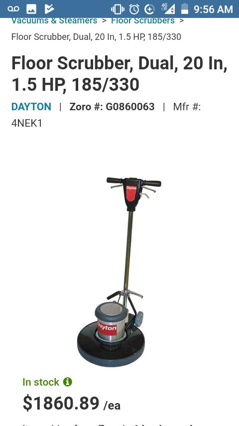 Dayton floor cleaner/ buffer/ scrubber