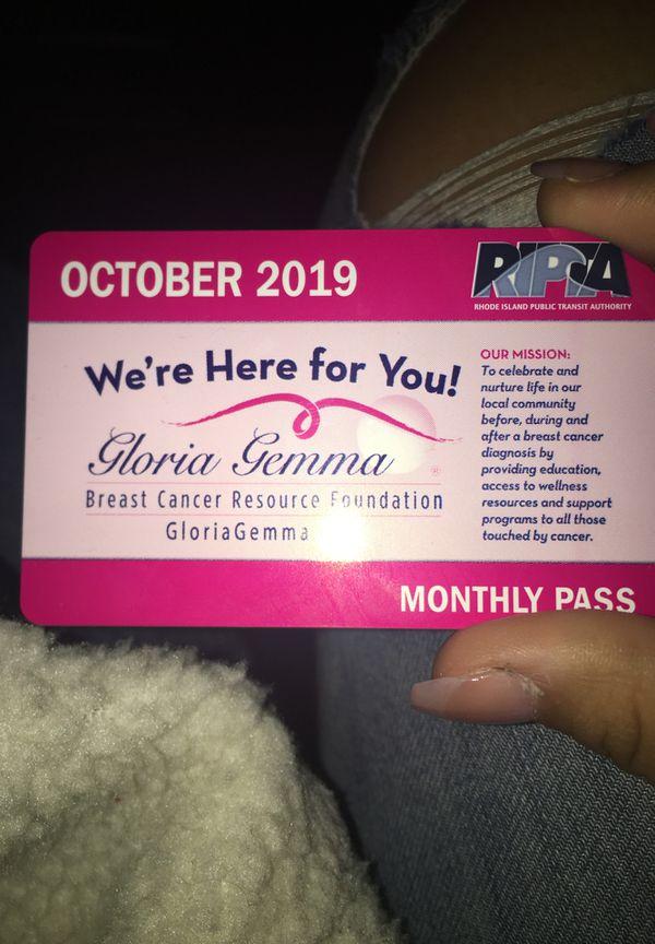 October bus pass