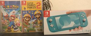 New Nintendo Switch Lite- Turquoise for Sale in San Diego, CA