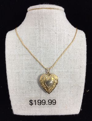 Gold Heart Locket Necklace for Sale in Kent, WA
