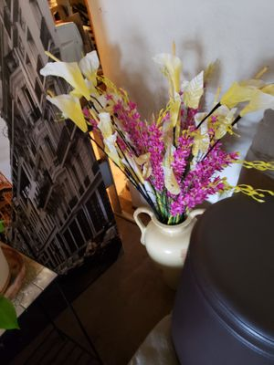 Big vase with artificial flowers for Sale in Seattle, WA