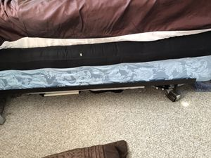 Full size Box Spring, bed frame, and futon mattress. for Sale in Antioch, CA