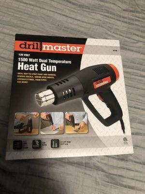 Drill master 1500 watt dual temperature heat gun for Sale in West Palm Beach, FL