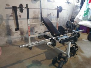 Mega weight bench and weights for Sale in Philadelphia, PA