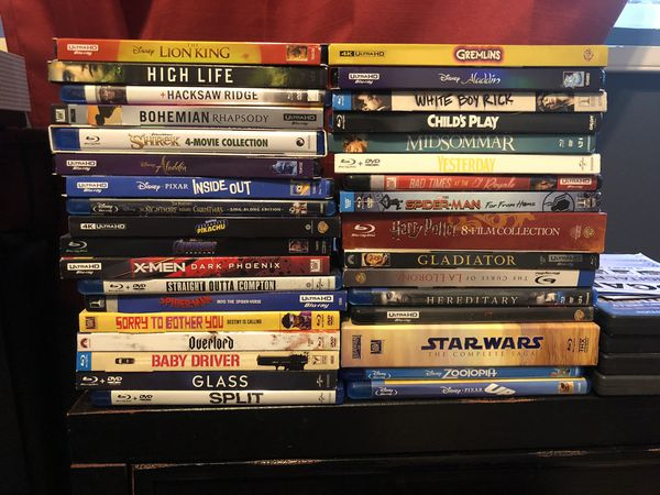 $8 Blu Rays and $12 4k dvds