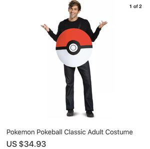 Pokémon Pokeball Adult Costume for Sale in Los Angeles, CA