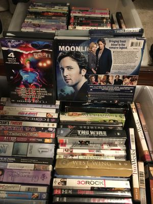 Box of random movies and tv shows bonus cdrw blanks for Sale in Beaverton, OR