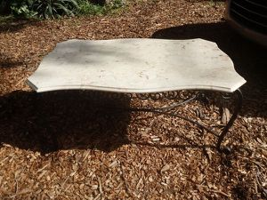 Marble Top Wrought Iron Coffee Table for Sale in St. Petersburg, FL