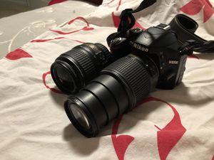 Nikon 3200 with tel lenses for Sale in Sacramento, CA