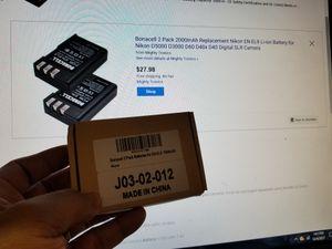 Bonacell 2 pack battery for Sale for sale  Elizabeth, NJ