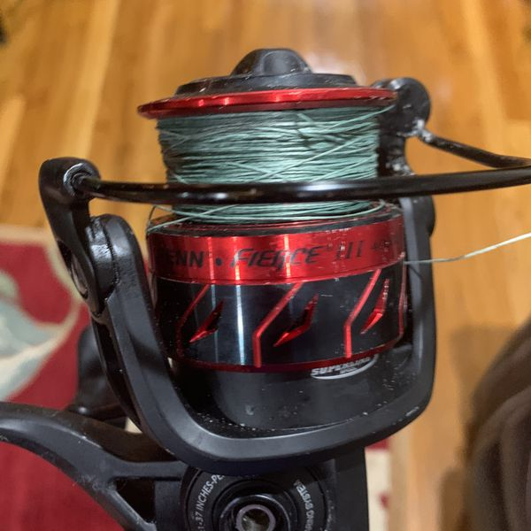 Fishing Rod With Braid Lining 30lb 185 Yard Penn III
