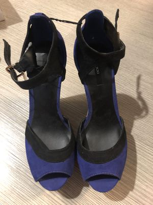 Size 8 blue and black high heel wedge brand new for Sale in Sunnyvale, CA
