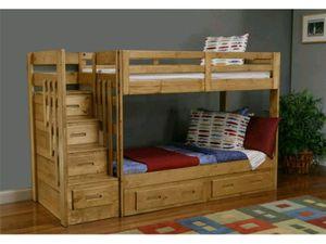 Full size bunk beds oak tree wood for Sale in Phoenix, AZ