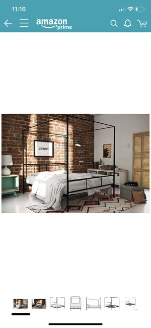 Full Size Black Canopy Bed Frame for Sale in Chico, CA
