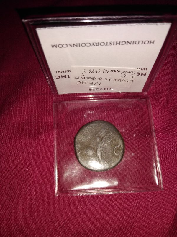 NERO Original 65AD Rome VICTORY Authentic Ancient Coin - 26mm